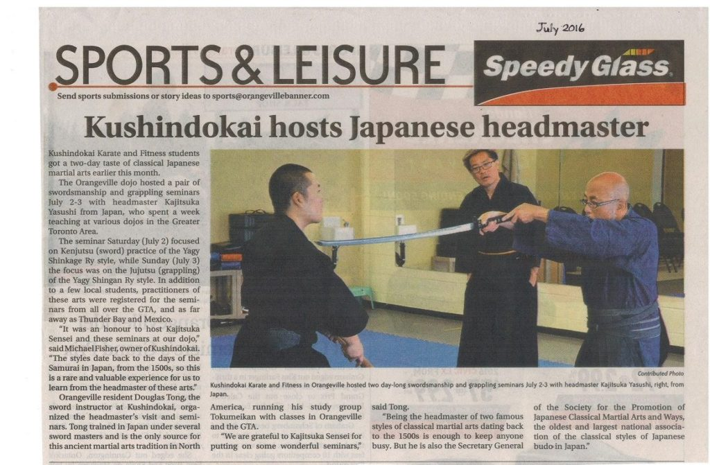 Local Newspaper Article